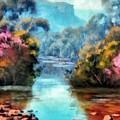Along The Creek by Ronald Bolokofsky