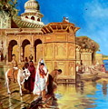 Along The Ghats, Mathura After Edwin Lord Weeks by Hidemi Tada