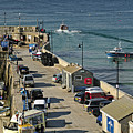 Along The South Pier - Newquay Harbour by Rod Johnson