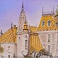 Aloxe Corton Chateau Jaune by Mary Ellen Mueller Legault