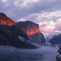 Alpen Glow On El Capitan by Stan and Anne Foster