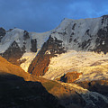 Alpenglow On The Swiss Alps Near Murren by Anne Keiser