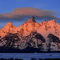Alpenglow Tetons 2 by Raymond Salani III