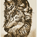 Alpha Male - The Wolf - Antiqued by Scott D Van Osdol