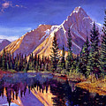 Alpine Lake Mist by David Lloyd Glover