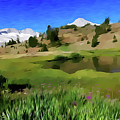 Alpine Meadow By Frank Lee Hawkins by Frank Hawkins Eastern Sierra Gallery