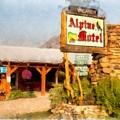 Alpine Motel Vintage Roadside Oasis Yellowstone by Edward Fielding