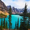 Alpine Scenic Moraine Lake Alberta Canada by George Oze