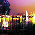 Alster In The Evening by Nica Art Studio