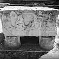 Altar At Copan Ruins In Honduras by Trude Janssen