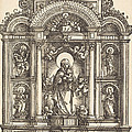 Altar With The Virgin And Child And Saints Christopher, Barbara, George And Catherine by Albrecht Altdorfer