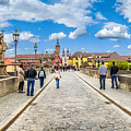 Alte Mainbrucke In The Historic City Of Wurzburg by JR Photography