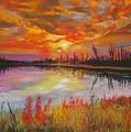 Alton Mill Summer Sunset by Henny Dagenais
