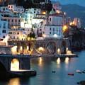 Amalfi Coast At Night by Donna Corless
