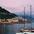 Amalfi Harbor Sunset by Daryl L Hunter