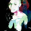 Amani African American Nude Fine Art Painting Print 4966.03 by Kendree Miller