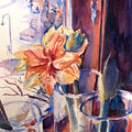 Amaryllis In The Window by Joyce Kanyuk