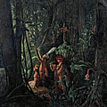 Amazonian Indians Worshiping The Sun God by Francois-Auguste Biard