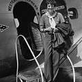 Amelia Earhart 1897-1937 Standing by Everett