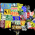 Us License Plate Map by Miles Whittingham