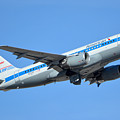 American Airbus A319-0112 N744p Retro Piedmont Pacemaker Phoenix Sky Harbor January 21 2016 by Brian Lockett