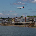 American Airlines Lands Over Winthrop Massachusetts by Brian MacLean