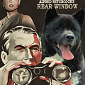 American Akita Art Canvas Print - Rear Window Movie Poster by Sandra Sij