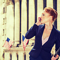 American Businesswoman Working In New York by Alexander Image