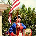 American Fife And Drum Corp Flag Carrier by Anita Hiltz