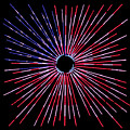 American Flag Burst Of Pride Square by Terry DeLuco