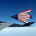 American Flag F 117 Nighthawks by R Muirhead Art