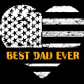 American Flag, Father's Day Gift, Best Dad Ever, For Daddy by Clothluxe