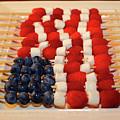 American Flag In Blueberries And Raspberries by James Brunker
