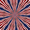 American Flag Kaleidoscope Abstract 6 by Rose Santuci-Sofranko