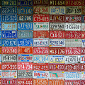 American Flag Made From Car Tags At Red Oak II Carthage Missouri by T Lowry Wilson