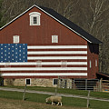 American Flag Painted On The Side by Todd Gipstein