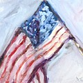American Flag Painting by Donna Tuten