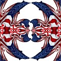 American Flag Polar Coordinate Abstract 1 by Rose Santuci-Sofranko