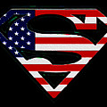 American Flag Superman Shield by Bill Cannon