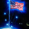 American Flag. The Star Spangled Banner by Sofia Metal Queen