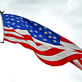 American Flag With Eagle by Sally Rockefeller