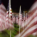 American Flags Tribute To 9-11 by Cathy Severson