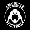 American Football Player With Ball And Helmet by Daniel Ghioldi