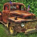 American Ford 1950 F-1 Ford Pickup Truck Art by Reid Callaway