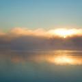 American Lake Sunrise by Amanda De Vos