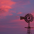 American Old Farm Water Pumping Windmill With A Sunset  by James BO  Insogna