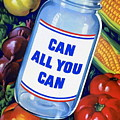 American Propaganda Poster Promoting Canned Food by American School