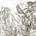 American Revolution Battle Sketch by Randy Steele