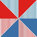 Americana Pinwheel by Linda Woods