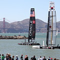 America's Cup Racing Sailboats In The San Francisco Bay - 5d18253 by Wingsdomain Art and Photography